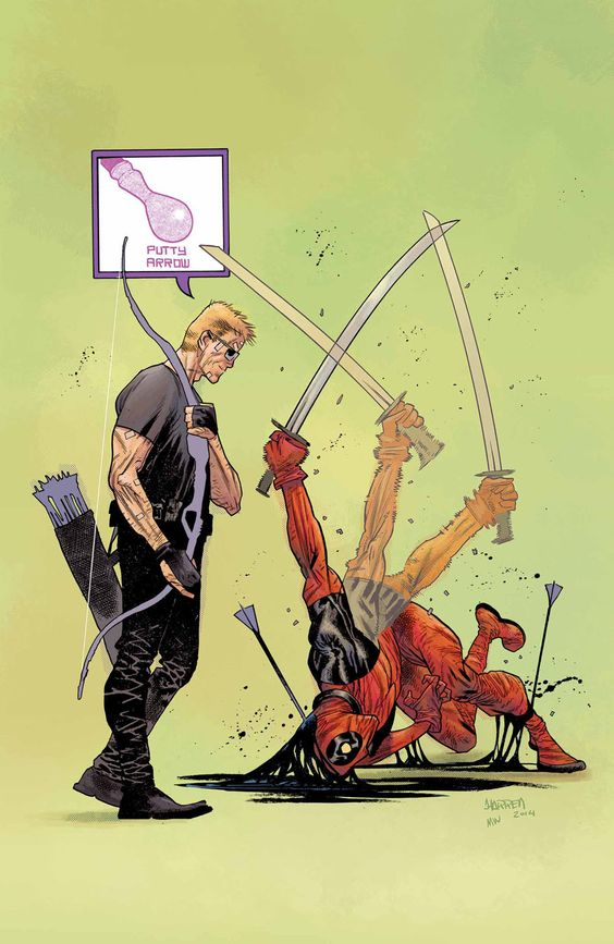 Hawkeye VS. Deadpool N°3 - Cover by James Harren