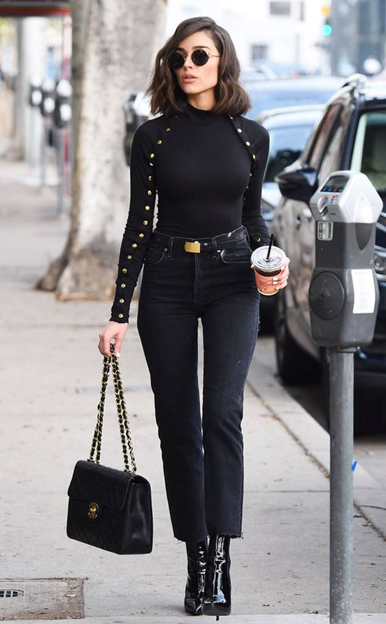 Olivia Culpo from The Big Picture: Today's Hot Photos All black everything! The actress looks super chic as she grabs a coffee in LA.