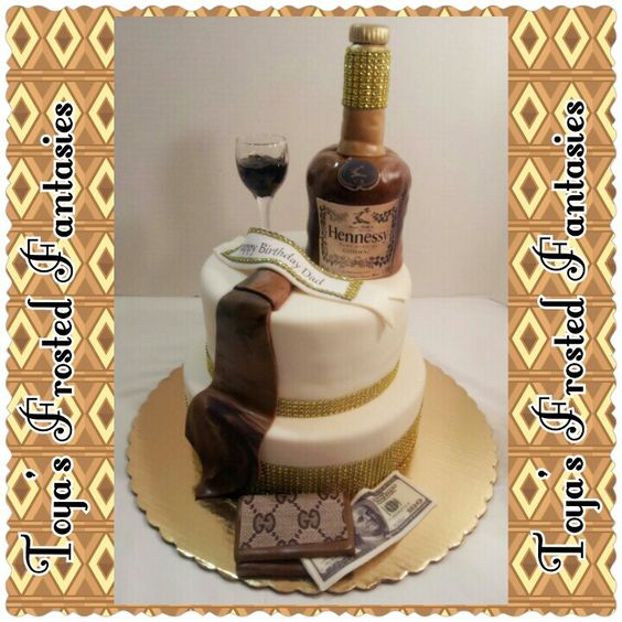 Liquor Bottle Cake Decorations: Hennessy Party Ideas Pictures To Pin On Pinterest