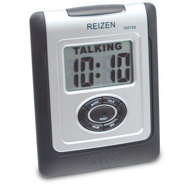 For Dad: Reizen LCD Talking Alarm Clock - English