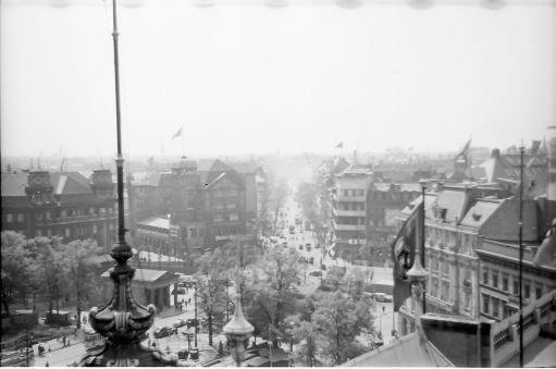 Berlin 1938 ueber die Daecher vom Potsdamerplatz