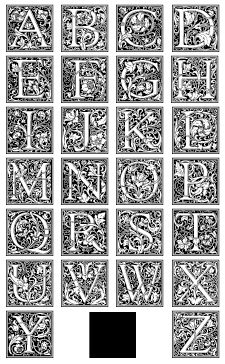 types of letters also known as cloister initials this set of 26 decorative 1692