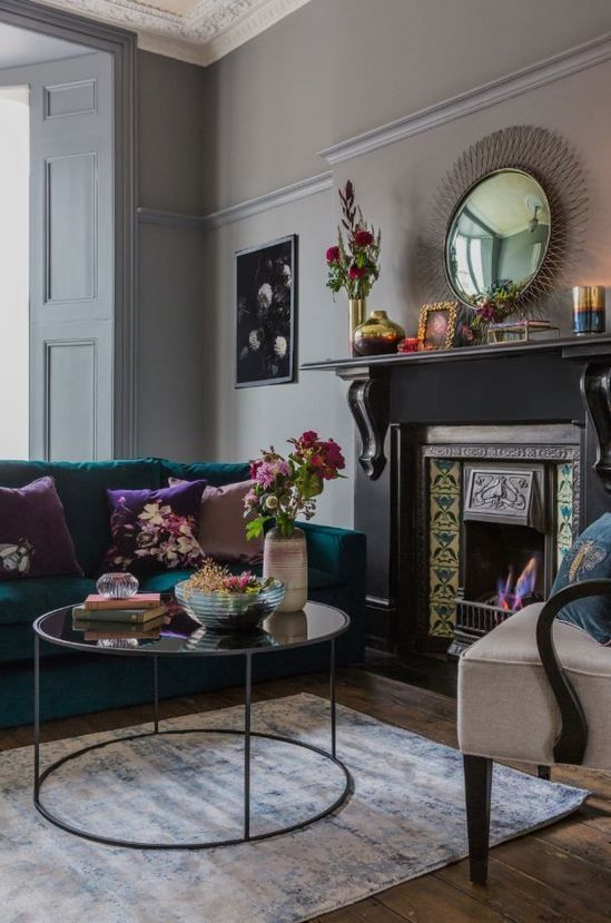49++ Grey and jewel tone living room trends