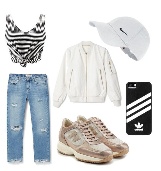 """""""Everyday outfit"""" by dinaboukhachem on Polyvore featuring mode, MANGO, Hogan, NIKE et adidas"""