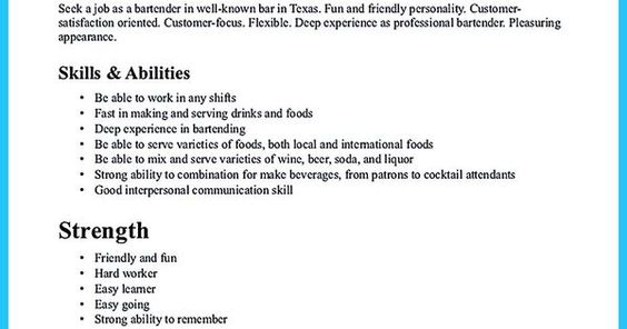 Everything You Must Put Onto Your Impressive Bartenders Resume
