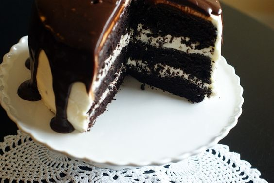 Chocolate chocolate chip cake