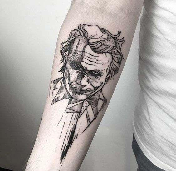 50 Verruckte Joker Tattoos Designs Und Ideen 5