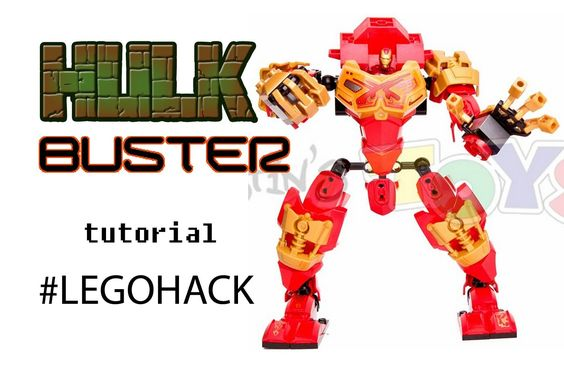cool LEGO Hulkbuster - Custom Made 76031 Tutorial - Ninjago Bionicle Mash Up