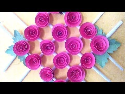 Color Paper Wall Hanging Wall Hanging Craft Ideas Quill Paper Wall Hangers For Room Decor Youtube Paper Flower Wall Paper Wall Hanging Paper Wall Decor