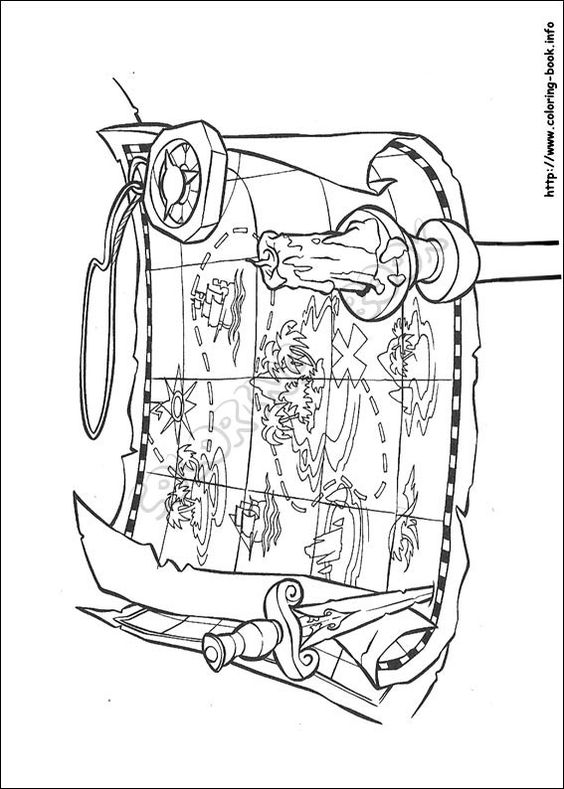 coloring pages pirates of caribbean - photo#26