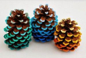 kreative ideem zum selber machen-deko selber basteln mit zapfen
