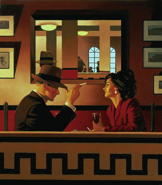 Jack Vettriano Man in the Mirror painting art sale, painting - $3,000.00 Authorized official website