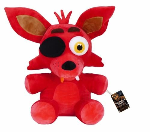 Cuddle up with the terrifying animatronics from Five Nights at Freddy's! This Five Nights at Freddy's Foxy 16-Inch Plush features the pirate fox from the hit survival-horror game. Plush stands 16 inches tall and comes packaged in a polybag. Ages 14 and up. #funko #fivenightsatfreddys #collectible #plush