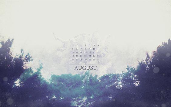 August 2012 calendar wallpaper. Download it now!
