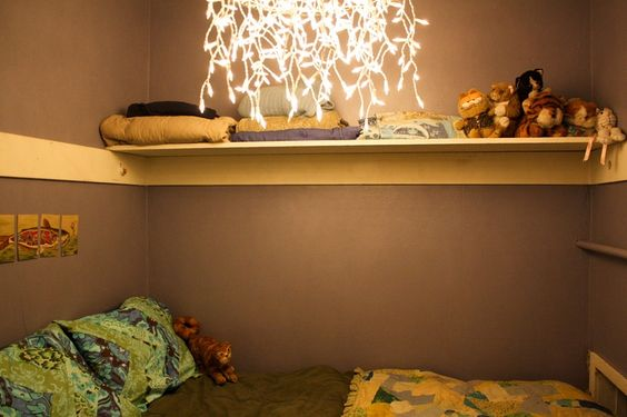 BED IN A CLOSET | Love the idea of a bed in the closet