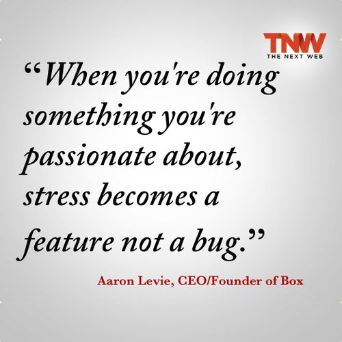 When you're doing something you're passionate about, stress becomes a feature not a bug. #inspiration #inspirational
