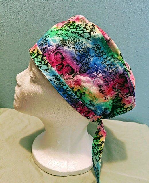 Tie Dye Mens And Womens Medical Scrub Cap