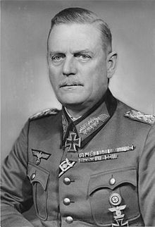 Wilhelm Bodewin Johann Gustav Keitel (22 September 1882 – 16 October 1946) was a German field marshal (Generalfeldmarschall). As head of the Oberkommando der Wehrmacht (Supreme Command of the Armed Forces) and de facto war minister under Adolf Hitler, he was one of Germany's most senior military leaders during World War II. At the Allied court at Nuremberg he was tried, sentenced to death and hanged as a war criminal.