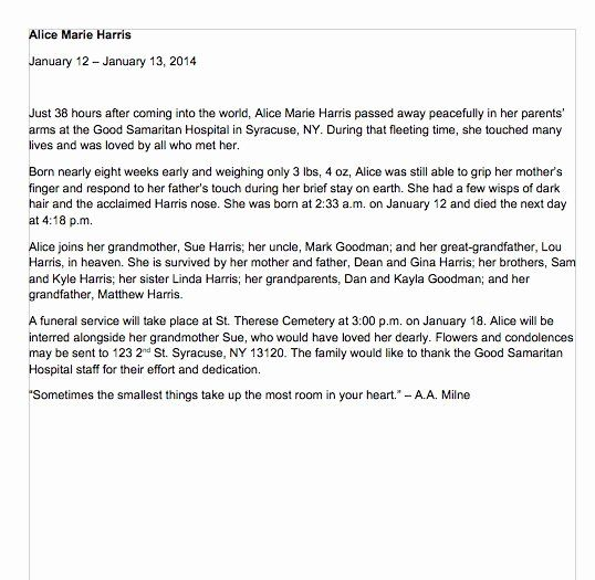 Examples Of Obituaries Well Written Unique 25 Obituary Templates And Samples Template Lab Obituaries Template Eulogy Examples Eulogy