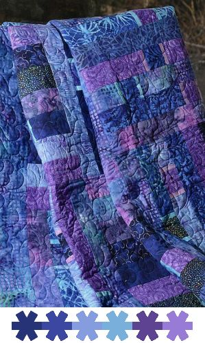 quilt in purples and blues (color id: Pantone, by leaff)