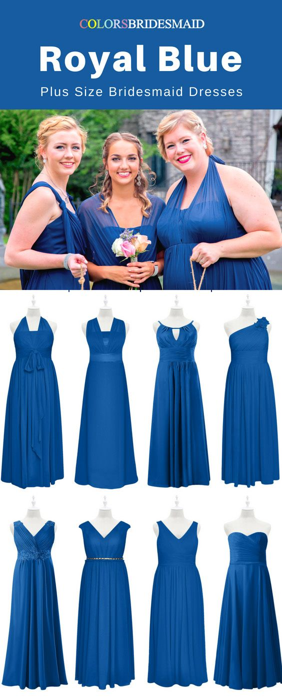 Top 8 Plus Size Royal Blue Bridesmaid Dresses To Flatter You ...
