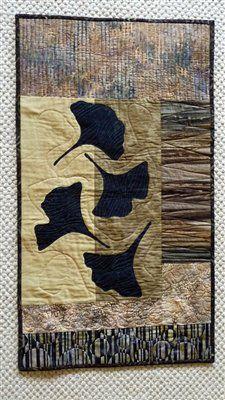 Ginko Leaves :: fabric art