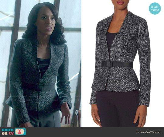 d4191d58d6664c Olivia's tweed peplum blazer on Scandal. Outfit Details: http://wornontv.