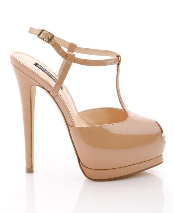 Nude T-Strap Heels | Shoes Shoes Shoes! | Pinterest | Cute images ...