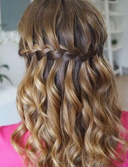 20 Stunning Waterfall Braid Hairstyles Online Health Shop Waterfall Braid Hairstyle Braided Hairstyles Hair Styles