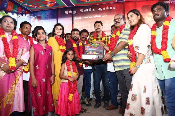 Actor Srikanth Dance Master Dinesh Sambavam Movie Pooja