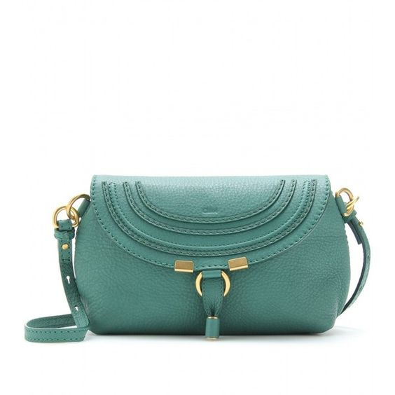Chloé Marcie Small Leather Shoulder Bag ($550) ❤ liked on Polyvore