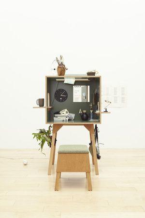 机の上に「個室書斎」が作れる!? 巣箱のような箱型デスク『コロロデスク』(1/2) - ウレぴあ総研