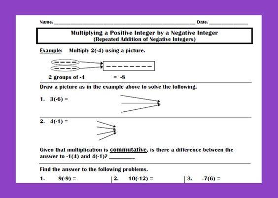 Additive Inverse Worksheet Free identity property of addition – Additive Inverse Worksheet