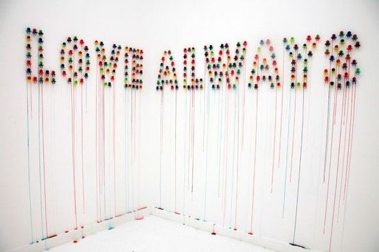love always,why not, pinned by Ton van der Veer