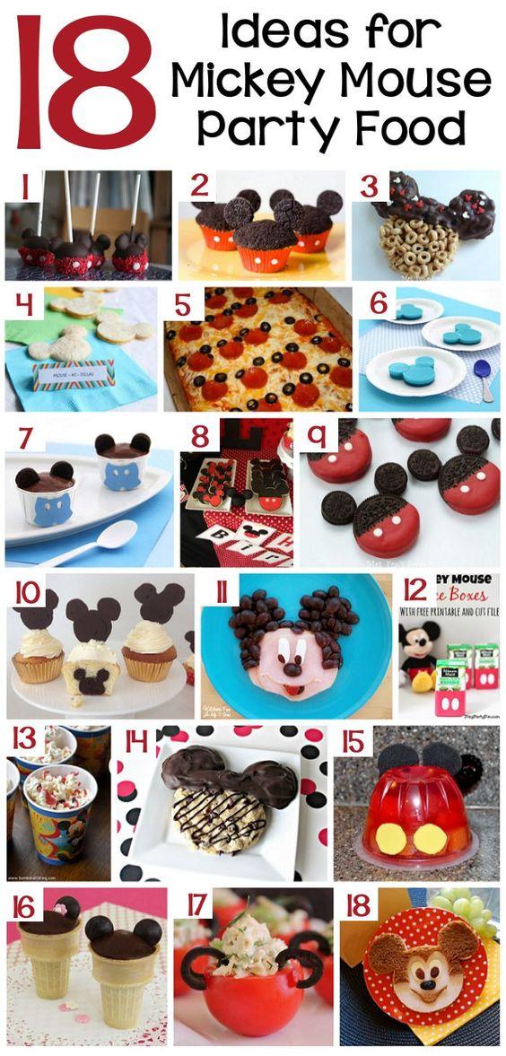 18 Ideas para la Alimentación Mickey fiesta de cumpleaños del ratón