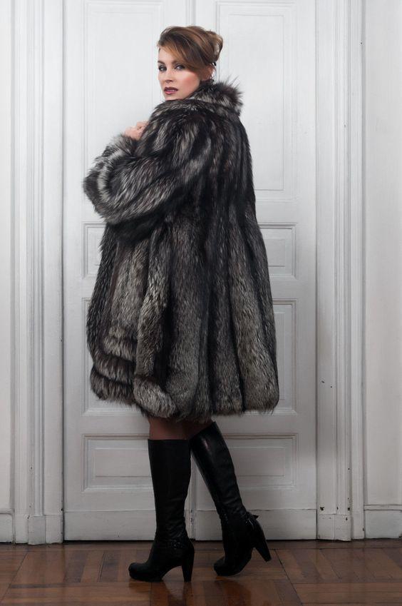 Silver Fox Fur Coat Pelisse Fourrure Renard Pelzmantel Pelliccia Volpe Argentata | eBay