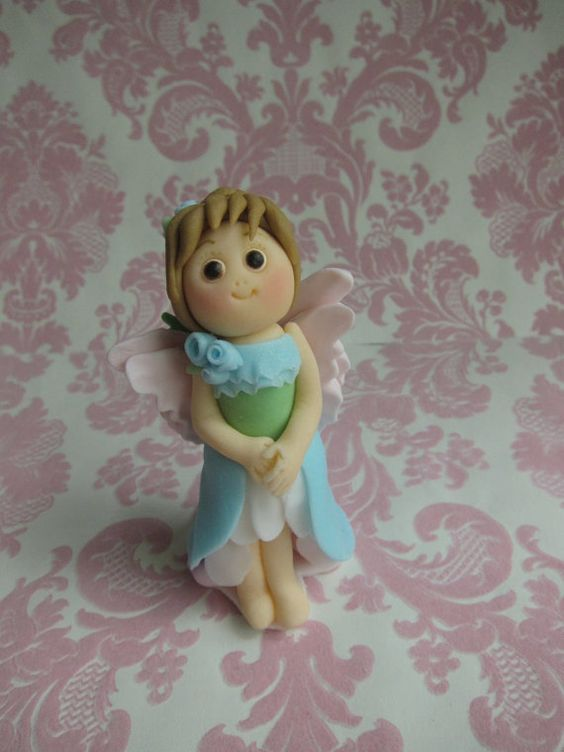 Fairy Dolls with Wings Cupcake Toppers (6 Dolls)