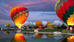 Dawn Patrol Show at The Albuquerque International Balloon Fiesta