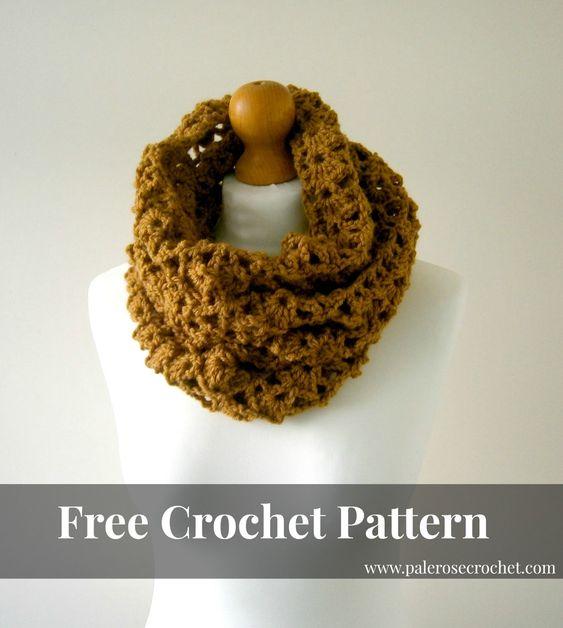 Free Crochet Pattern For Lightweight Scarf : Pale Rose Crochet: Lightweight Cowl Crochet Pattern Free ...