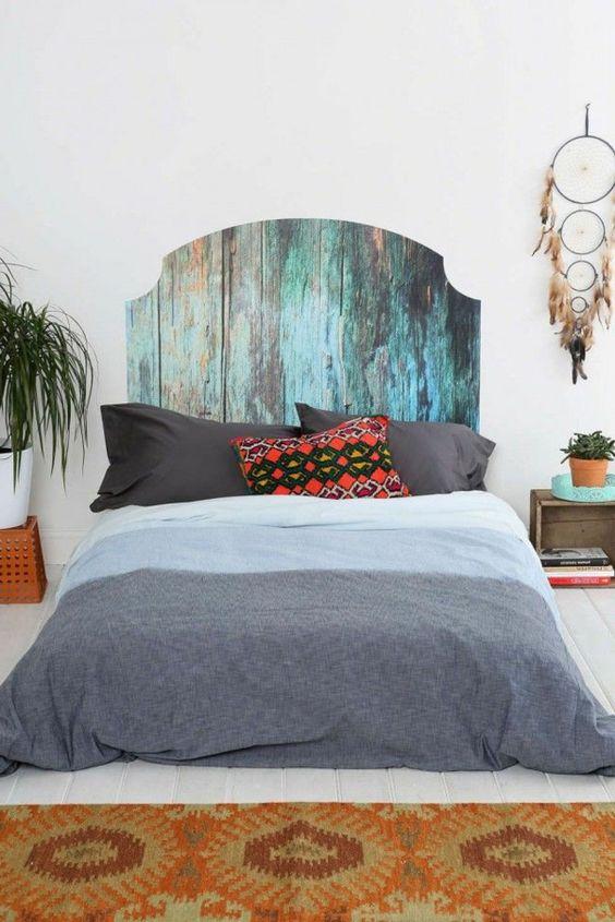 bett kopfteil schöne wohnideen schlafzimmer pflanzen wanddeko