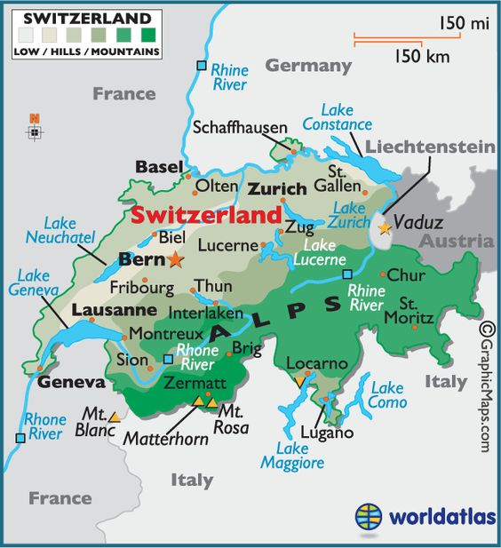 Where is it – Switzerland Travel Map