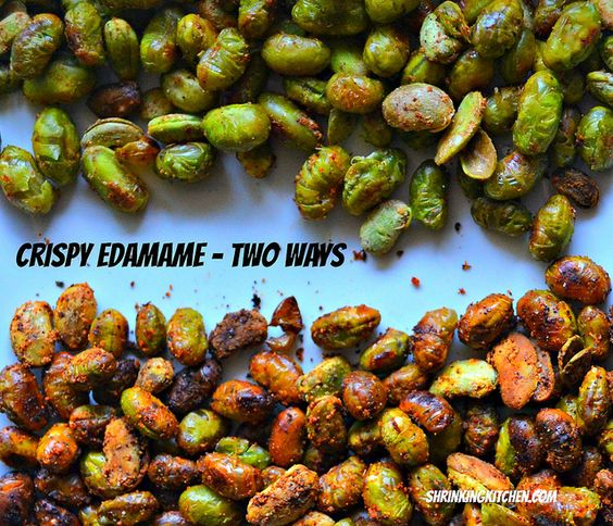crispy edamame - two ways #healthy #recipes