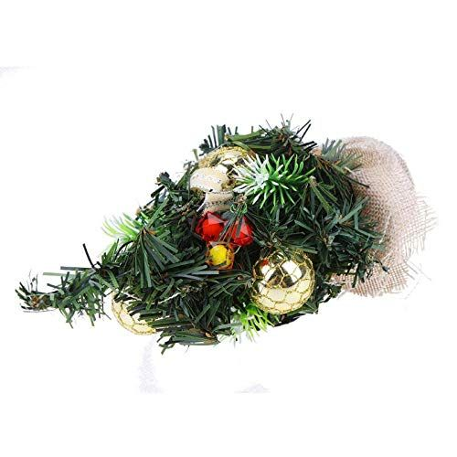 Lannmart Christmas Trees Decorations A Small Pine Tree Placed In The Desktop Festival Home Party O Small Pine Trees Tree Decorations Christmas Tree Decorations