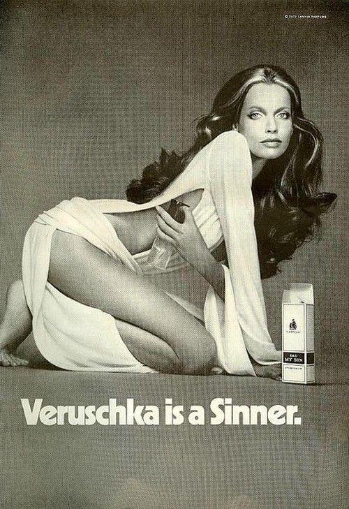 Veruschka is a Sunner… advertisement from Mademoiselle, October 1972.