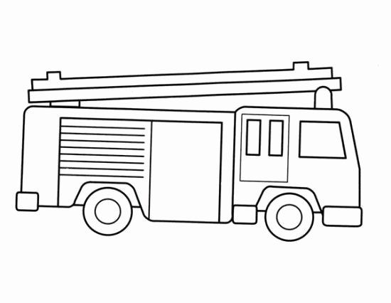 Coloring Page Fire Truck Inspirational Fire Truck Coloring Pages