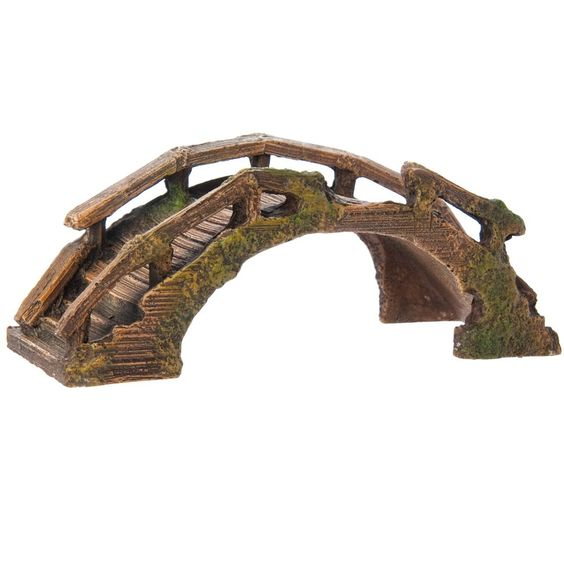 Top Fin Asian Wooden Bridge Aquarium Ornament Aquarium Ornaments Fish Tank Accessories Aquarium Decorations