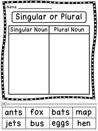 Free Worksheets » Grammar For Kindergarten - Free Printable ...