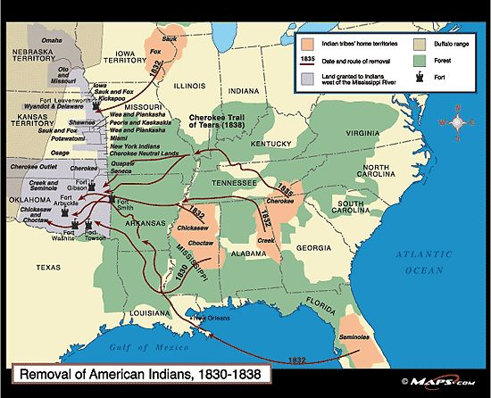 Th Century Indian Relations With The United States From - Map of us territories in 1830