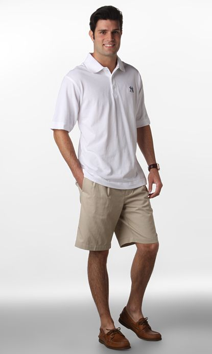 Polo With Khaki Shorts
