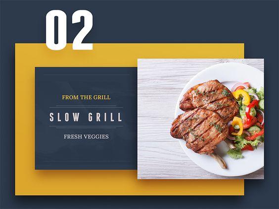 From the grill - menu dark version by Aurélien Salomon ➔